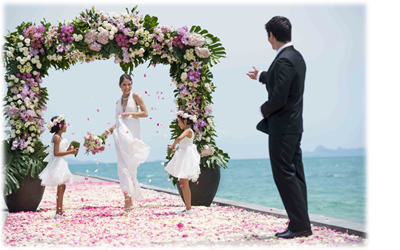 Overseas Beach Wedding